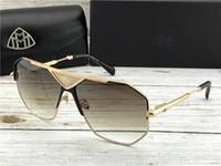 lüks erkekler gözlük toptan satış-En lüks K altın erkekler gözlük otomobil markası Maybach modacı gözlük katında açık UV400 güneş gözlüğü G-ABM-Z20