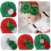 Wholesale infant easter hats resale online - Christmas Children Hat Cotton Cloth Baby Cap kids Knot Turban Toddler Soft Head Wrap India style infants Knot Headbands Photography props
