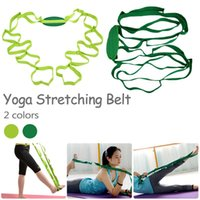 ingrosso yoga stretching corda-Cintura multifunzione Yoga Stretching Belt Corda Yoga Stretching Aids Assistant Training Supplies for Leg Fitness
