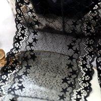 эластичная черная ткань оптовых-17см черный кружевной отделкой звезда шаблон эластичный кружевной ткани зубчатая отделка для юбок платья дизайн костюмов одежда швейные аксессуары