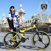 bmx yarış bisikleti toptan satış-KUBEEN dağ bisikleti 26-inch çelik 21-speed bisikletler çift diskli frenler değişken hız yol bisikletleri yarış bisiklet