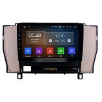 toyota crown оптовых-9-дюймовый Android 9.0 HD с сенсорным экраном GPS Navi Car Stereo для 2010-2014 Toyota старая корона LHD с Bluetooth USB WIFI Поддержка 3G / 4G Автомобильный DVD 1080P