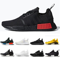 laufende turnschuhe für frauen groihandel-Adidas Thunder NMD R1 Mens Running Shoes Military Green Oreo atmos Bred Tri-Color OG Classic Men Women mastermind japan Sports Trainer Sneakers