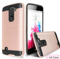 Wholesale pocket protectors for sale – best For LG K50 K40 Tribute Dynasty Stylo Aristo Plus G8 ThinQ V50 Case Armor Metal Cheap Hybrid Protector Cover