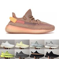 mejores zapatillas para correr al por mayor-Diseñador zapatillas de deporte nueva forma verdadera arcilla hiperespacio estática mejor calidad Kanye West hombres mujeres zapatos para correr 5-13