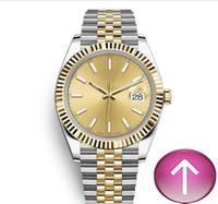 vestido de reloj automático al por mayor-2019 Clásico Automático Mecánico venta caliente de lujo Deportes 41mm banda Relojes de pulsera de oro popular Vestido Casual hombres reloj de pulsera
