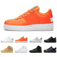 продажа спортивной обуви оптовых-nike air force 1 air forces shoes Utility Classic Black White Men Women Letter Casual Shoes red Orange Sports Chassures High Low Cut Wheat Trainers Sneakers 36-45