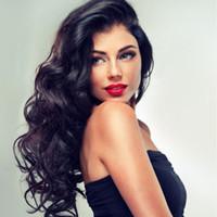 peinados de onda corporal para cabello negro. al por mayor-Body Wave Wig Lace Front Human Hair Hairstyles para las mujeres negras Pelucas delanteras del cordón peruano Pre Plucked With Baby Hair