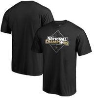 yankees jerseys majestuosos al por mayor-Vanderbilt Commodores Negro de la camiseta del logotipo de la universidad de béisbol 2019 hombres de NCAA campeones nacionales de la Serie Mundial
