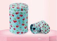 coffrets cadeaux cylindriques achat en gros de-Belle double couvert paquet cadeau de style thé en fer blanc métallique alimentaire boîte de bonbons boîte en métal cadeau cylindrique variété