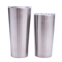 çift duvar bira kupaları toptan satış-açık kapaklı 24 oz 20 oz Canbaz Kahve Kupa Paslanmaz Çelik Çift Duvar Vakum İzoleli Bira Bardaklar Drinkware Vakum Kupalar MMA1906-6