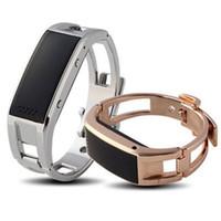 akıllı bilezik d8 toptan satış-D8 Akıllı İzle Bilezik Bileklik metal altın şerit Sync Bilek Android Cep telefonu için LED Dijital Bluetooth cevap telefonu