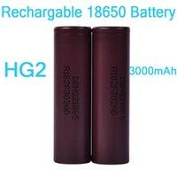 wiederaufladbare lithium-batterie elektronische zigarette großhandel-100% hochwertige hg2 18650 batterie 3000 mah elektronische zigarette box vape mods 35a wiederaufladbare lithium-batterien flat top dhl free fj752