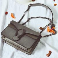 Wholesale black head scrub resale online - Suede Bag Luxury Handbags Women Bags Designer Chian Shoulder Crossbody Bag Vintage Scrub Famous Brand Tiger Head Flap Sac Femme