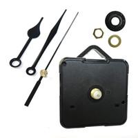 mecanismo de fuso do kit de movimento de relógio de quartzo venda por atacado-DIY Relógio De Quartzo Movimento Kit Preto Acessórios Do Relógio Mecanismo Do Eixo Reparação com Conjuntos de Mão Pendurado Relógio Acessório