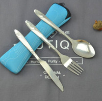 Wholesale soup knife for sale - Group buy New Arrival Silver Dinnerware Set high Quality Stainless Steel Dinner Knife and Fork and soup coffee Spoon Teaspoon Cutlery Set
