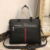 Wholesale mens business satchel for sale - Group buy 2020 Luxury Designer Mens Business Briefcases Crossbody Messenger Laptop Shoulder Bags Custom High Quality Real Leather Fashion For Men