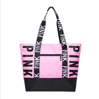 Wholesale portable wall beds resale online - 2019 New European and American PINK Environmental Protection Shopping Bag Ms Bags Portable leisure Bags