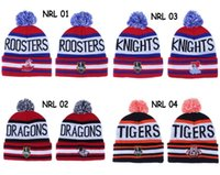 Wholesale nrl beanie hats for sale - Group buy Top Quality NRL Team Beanies North Queensland Cronulla Sharks Beanie Hats Mens Knitted Tigers Roosters Beanies Winter Warm Caps