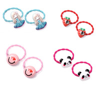 Wholesale cute ties for girls for sale - Group buy M MISM Panda Flower Princess Cute Lovely Elastic Hair Bands Hair Accessories Tie Rubber Band Scrunchy for Kids Girls