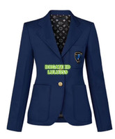 moda blazer menina venda por atacado-2019 Mulheres Moda Designer De Luxo Blazer Jaqueta Com Patch Bordado O High-End Personalizado Feminino Tops Jaqueta Meninas Runway Berif Coat