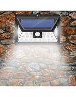 sensor de movimiento para leds al por mayor-Luz solar LED para exteriores 24 LEDs 3 modos opcionales Sensor de movimiento inalámbrico Luz con 270 ° Gran Angular IP65 a prueba de agua