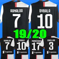 fußballhemden xl großhandel-Thailand Juventus Fußball Trikot Fußball Trikot 2020 RONALDO 18 19 20 Uniformen Meister Bernardeschi DYBALA JUVE EA SPORTS