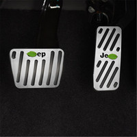 Wholesale gas pedal covers for sale - Group buy Car Styling Accssories Car Fuel Accelerator Cover Gas Pedal Brake Pedal Kit For Jeep Cherokee S Auto Pedal