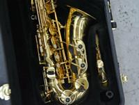 saxofone de ouro alto sax venda por atacado-YANAGISAWA A-901 Saxofone Alto de Alta Qualidade Laca de Ouro Sax Instrumentos Musicais com Bocal Caso Acessórios Frete Grátis