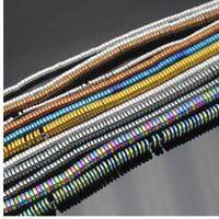 ingrosso molto chip-Branelli allentati del chip affettato rotondo molto bello dell'ematite 15inch / 380pcs, per la fabbricazione dei gioielli di DIY, pendente, collana