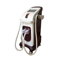 Wholesale laser hair removal handles resale online - newest two handles OPT SHR Fast Hair Removal IPL E Light nd Yag Laser tattoo machine with high configuration