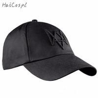 видеоигра оптовых-Аксессуары Шляпы Часы Собаки Шляпа Косплей Для Мужчин Видеоигры COS Эйден Пирс Кепка Бейсболка Мода высокого качества Black Sun Hat