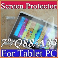 Wholesale Original Screen Protective Film Protector Guard for inch quot Allwinner A13 A23 A33 AMT7021 AMT7029 Q88 Android Tablet PC C PG
