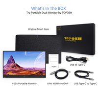 Wholesale usb dual monitor resale online - Portable Monitor USB Type C Full HD IPS USB C Portable Monitor Built in Dual Speakers Compatible with Laptop notebook