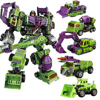 modell kräne spielzeug großhandel-NBK Transformation Toy Boy Coole Anime Devastator Roboter Auto Action-Figuren KO GT Truck Bagger Kran Modell erwachsene Sammlung Spielzeug