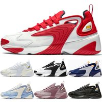 Wholesale womens summer flat shoes resale online - Top M2k Tekno Zoom K Mens Womens Trainers Shoes Fashion Race Red Black White Triple Black Royal blue Purple Running Shoes Sneakers