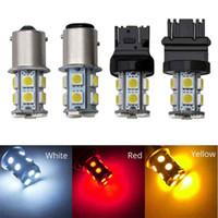 Wholesale 12v side marker light for sale - Group buy 1156 LED SMD Car Turn Parking Signal Lights Brake Tail Lamps Auto Rear Reverse Bulbs DC V