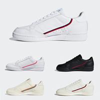 sapatos casuais de mulheres bege venda por atacado-Adidas Originals Continental 80 Mulheres Homens Rosa Preto Branco Orgulho calçados Casuais Kanye West OG Branco Das Mulheres Dos Homens Branco Bege Tênis de Desporto Trainer