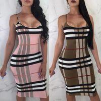 vestidos de joelho apertados venda por atacado-Mulheres verão vestido europeu e americano estilo sexy apertado dress bandage sexy na altura do joelho feminino bodycon clothing