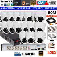 камера безопасности 16ch оптовых-XVR5116HS-X 16ch CVI Security Camera System with 2MP 1080P Waterproof HDCVI IR Eyeball dome Camera HAC-HDW1220EM PSS support