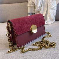 Wholesale burgundy scrubs resale online - Retro fashion Female Scrub Flap bag New High Quality PU Leather Women s Designer Handbag Lock Chain Shoulder Messenger Bag