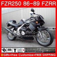 yamaha fzr al por mayor-Cuerpo Gris negro stock Para YAMAHA FZRR 250 FZR 250R FZR 250 1986 1987 1988 1989 123HM.47 FZR250RR FZR250R FZR-250 FZR250 86 87 88 89 Carenado