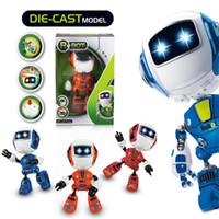 mini oyuncak robotları toptan satış-Mini Elektrikli LED Ses Akıllı Alaşım Robot Oyuncaklar Yenilik Telefon Çocuklar Için oyuncaklar yılbaşı hediyeleri Standı