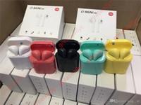 micrófono pop al por mayor-i7 Mini TWS Inalámbrico Bluetooth 5.0 Auriculares Pop ups Auriculares dobles con caja de carga Mic Sport Headset para xiaomi huawei iphone