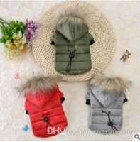 Wholesale easter clothing sales for sale - Group buy Pet Dog Winter Clothes Dog Warm Coat Puppy Cotton Jacket Hot Sale Hooded Dog Cotton Costumes