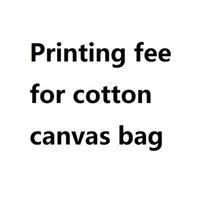 impresión personalizada en línea al por mayor-Costo de impresión para bolsas de lona de algodón Pedido personalizado Compras en línea Bolsas personalizadas Totalizadores Textiles impresos Diseñador Totalizador