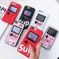 cor da tampa da tela do iphone venda por atacado-Cor lcd tela handheld game player phone case para iphone x xr xs x max cobertura capa protetora coque para iphone 7 8 6 6 s além de consola de jogos