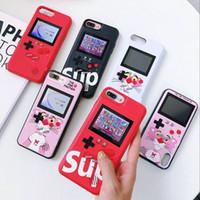 iphone lcd ekran kapağı toptan satış-Renkli LCD Ekran El Oyun Oyuncu Telefon Kılıfı için iPhone X XR Xs Max Koruyucu Kol Kapak Coque için iPhone 7 8 6 6 s Artı Oyun Konsolu