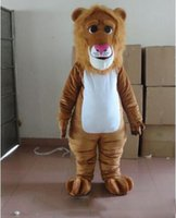 mascote rei venda por atacado-Dia das bruxas marrom o leão traje da mascote dos desenhos animados de alta qualidade leão rei animal anime personagem de natal trajes de festa de carnaval