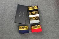 calzoncillos clásicos mujeres al por mayor-¡VENTA CALIENTE! Logotipo clásico de la caja UNHS 18SS Calzoncillos boxer MUJERES HOMBRES Calzoncillos lisos 100% algodón 3 colores M L XL XXL ASH001
